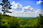Photomanipulation Photo Prints - Scenic view of So Mo Ozarks - Digital Paint Print by Debbie Portwood