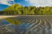 Tidal Creek Posters - Scenic View Of Tidal Flats At Low Tide Poster by Michael DeYoung