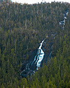 Queen Charlotte Strait Prints - Scenic Waterfall Print by Robert Bales