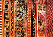Aboriginal Art Painting Framed Prints - Scent of Australian Desert Framed Print by Roberto Gagliardi