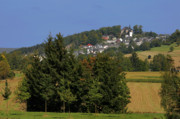 Village Views Prints - Schauenstein - A typical Upper-Franconian town Print by Christine Till