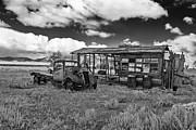 Old Pick Up Prints - Schellbourne Station And Old Truck Print by Robert Bales