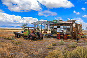 Junk Photos - Schellbourne Station And Vintage Truck by Robert Bales