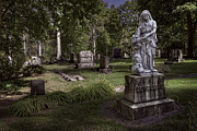 Religious Art Photo Metal Prints - Schelling Family Grave Statue - Greenwood Cemetery Metal Print by Daniel Hagerman