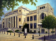 Nashville Tennessee Painting Metal Prints - Schermerhorn Symphony Center Metal Print by Janet King