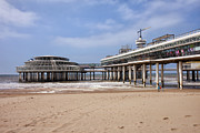Den Prints - Scheveningen Beach and Pier in Hague Print by Artur Bogacki