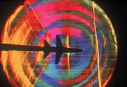 Schlieren Image Of Aircraft Print by Garry Settles