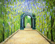 Tunnel Painting Prints - Schoenbrunn in Vienna The Palace Gardens Print by Kiril Stanchev