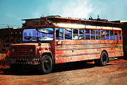 Popart Photo Prints - School Bus 5D24927 Print by Wingsdomain Art and Photography