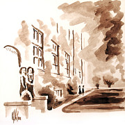 Water Colours Originals - School Days at Ursuline by Kip DeVore