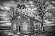 Dark Clouds Photos - School House by Scott Norris