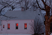 School House Sunset Print by Cheryl Baxter