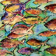 Agnes Trachet Prints - School Of Fish Print by Agnes Trachet