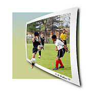 Uniforms Digital Art Prints - School Soccer Print by Brian Wallace