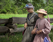 Split Rail Fence Photos - Schoolgirls by Jeremy Martin