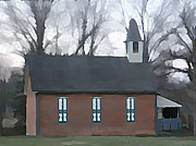 Brick Schools Photo Metal Prints - Schoolhouse Metal Print by Brenda Conrad