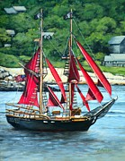 Rockport Paintings - Schooner Formidable Rockport MA by Eileen Patten Oliver