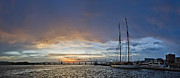 Schooner Metal Prints - Schooner Germania Nova Sunset Metal Print by Dustin K Ryan