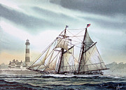 Maritime Print Prints - Schooner Light Print by James Williamson