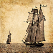 Schooners Art - Schooner Race by Fred LeBlanc
