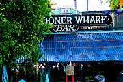 Live Music Prints - Schooner Wharf Bar in Key West Florida Print by Susanne Van Hulst