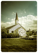 Wedding Chapel Posters - Schram Memorial Chapel Poster by Julie Palencia