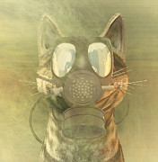Physics Digital Art - Schrodinger underestimates the cat. by Carol and Mike Werner
