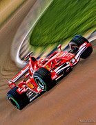 Schumacher Racing Photo Framed Prints - Schumacher Bend Framed Print by Blake Richards