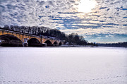 Fairmount Park Prints - Schuylkill River - Frozen Print by Bill Cannon