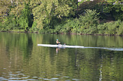 Rower Digital Art Prints - Schuylkill Rower Print by Bill Cannon