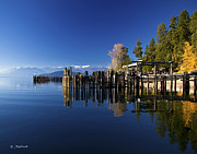 Schweitzer Prints - Schweitzer from Sunnyside and the Boatworks on Lake Pend Oreille Print by Bill Schaudt