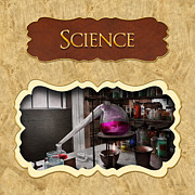 Science Photo Posters - Science button Poster by Mike Savad