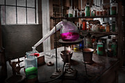 Old Lab Prints - Science - Chemist - Chemistry for Medicine  Print by Mike Savad