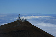Telescopes Prints - Science City Haleakala Print by Sharon Mau