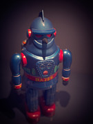 Science Fiction Vintage Robot Toy Print by Edward Fielding