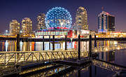 Telus Prints - Science World in Vancouver Print by Alexis Birkill