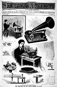 Player Digital Art - Scientific American - The Gramophone 1896 by Digital Reproductions