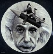 Man In The Moon Metal Prints - Scientific Comedy Metal Print by Ross Edwards
