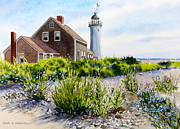 Scituate Light By Day Print by Karol Wyckoff
