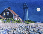 Karol Wyckoff - Scituate Light By Night