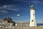 Keepers House Photos - Scituate Light Keeper by Amazing Jules