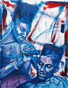 Big Daddy Kane Framed Prints - Scoob And Kane Framed Print by Chuck  Styles