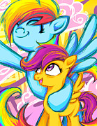 Sarah Bavar - Scootaloo and Rainbow...