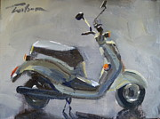 Scooter Paintings - Scooter by Ron Wilson