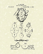 Baseball Artwork Drawings - Score Keeper 1890 Patent Art by Prior Art Design