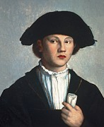 Youthful Photos - Scoreljan Van 1495-1562. Portrait by Everett