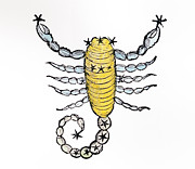 Scorpio An Illustration Print by Italian School
