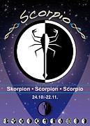 Sign Of Zodiac Digital Art - Scorpio by Fabian Roessler