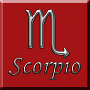 Francis Digital Art Posters - Scorpio Poster by Fran Riley