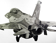 Jet Drawings Originals - Scorpion Squadron Falcon by Nathan OQuinn